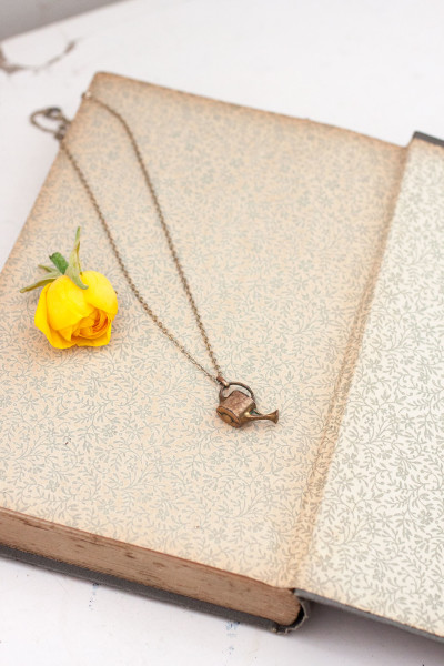 Watering can gold charm