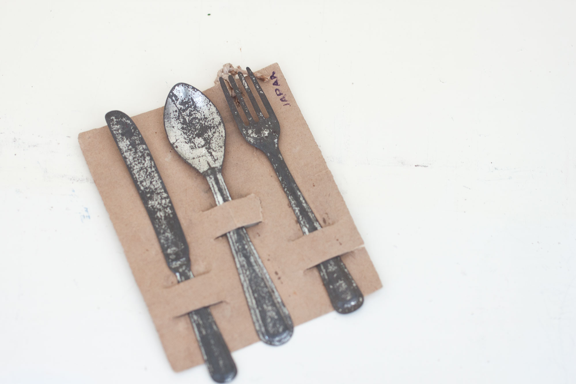 Vintage Japanese toy cutlery set